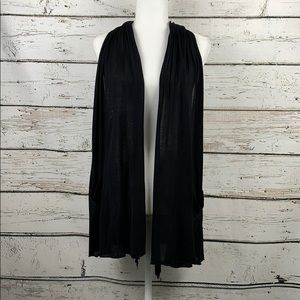 {BEBE} Black Sleeveless Duster Cardigan